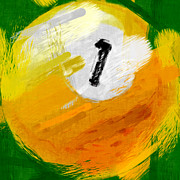 One Posters - One Ball Abstract Poster by David G Paul