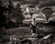 Air Balloon Prints - One Boys Dream Print by Bob Orsillo