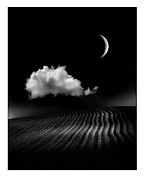 Moonscape Photo Framed Prints - One Cloud Framed Print by Mal Bray