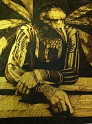 On Wood Pyrography Pyrography - one day Ill fly by Marlon Ivory