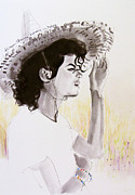 Mj Tribute Art Drawings Posters - One day in your life Poster by Hitomi Osanai