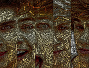 One Direction Posters - One Direction Faces Mosaic Poster by Paul Van Scott