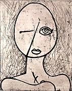 Nudes Reliefs Metal Prints - One Eye Metal Print by Thomas Valentine
