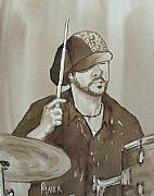 Musician Portrait Painting Originals - One Eyed Pete by Pete Maier