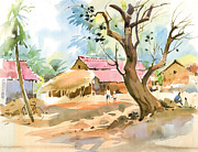Christmas Holiday Scenery Art - One fine day 1 by Milind Mulick