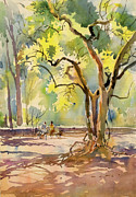 Garden Scene Originals - One fine day 3 by Milind Mulick