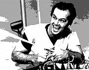 Jack Nicholson Painting Originals - One Flew Over The Cuckoos Nest by Dan Carman