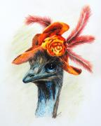 Emu Paintings - One Hat Many Feathers by Jai Johnson