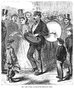 One Man Band Prints - One-man Band, 1867 Print by Granger