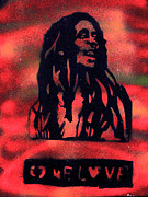 Free Speech Paintings - One Marley by Tony B Conscious