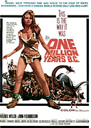 Classic Sf Posters Framed Prints - One Million Years, B.c., Raquel Welch Framed Print by Everett