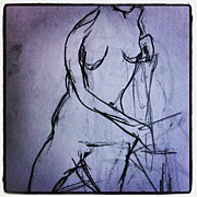 Nudes Art - One Minute Draw - Nude Model 2 by Eli Nissan