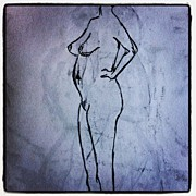 Nudes Art - One Minute Draw - Nude Model 3 by Eli Nissan