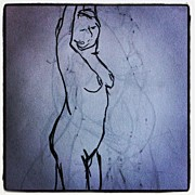 Nudes Art - One Minute Draw - Nude Model by Eli Nissan