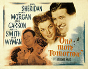 Fod Acrylic Prints - One More Tomorrow, Jane Wyman, Jack Acrylic Print by Everett