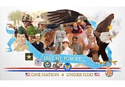 Marines Painting Originals - One Nation Under God by Chuck Hamrick