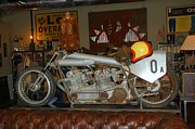 Transportation Pyrography - One of a Kind Motorcycle  by Monica Lewis