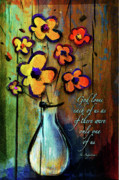 Christian Mixed Media Posters - One of a Kind Poster by Shevon Johnson