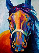 Wild Horses Painting Prints - One Of The Boys Print by Marion Rose