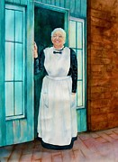 Albuquerque Paintings - One of the Last Harvey Girls by Sharon Mick