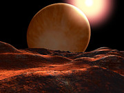 Geography Digital Art - One Of The Planets Orbiting 70 Virginis by Ron Miller