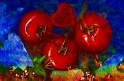 Tomatoes Mixed Media Prints - One of those beautiful still life Print by Pepita Selles