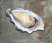 Raw Oyster Posters - One Oyster Poster by Elaine Hodges
