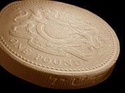 Coin Prints - One Pound Coin, Sem Print by Power And Syred