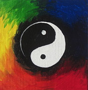 Yin-yang Acrylic Prints - One Acrylic Print by Sandy Tracey