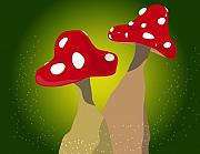 Fungi Digital Art - One Side Makes You Taller... by Kori Jones