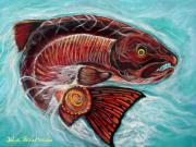 Salmon Paintings - One Spirit - Many Journeys by Julie Bourbeau