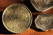 Coins Art - One sri lankan rupee coin by Sami Sarkis