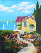 Pathways Painting Originals - One Sunny Afternoon by Heidi Patricio-Nadon