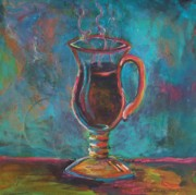 Images Paintings - One Tall Mocha by Deb Magelssen