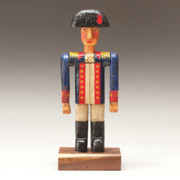 Woodcarving Sculpture Prints - One Tin Soldier Print by James Neill