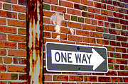 Brick Walls Photos - One Way by Benanne Stiens