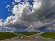 Grey Clouds Photos - One Way In and One Way Out by Elizabeth Hoskinson