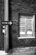 Street Sign Prints - One Way Print by Peter Tellone