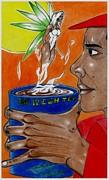 One Wish Tea Print by Lorenzo Depluzer