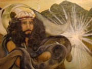 Religious Art Painting Prints - One with All Print by Oenita Blair