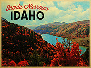 Reservoir Prints - Oneida Narrows Idaho Print by Vintage Poster Designs