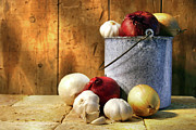 Bulb Prints - Onion harvest Print by Sandra Cunningham