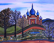 Onion Domes Painting Acrylic Prints - Onion Scape Acrylic Print by Kerry  Bennett