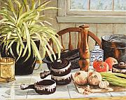 Canadian Artist Painter Painting Originals - Onion Soup Tonight  by Richard T Pranke