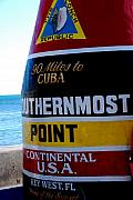 Photography Art - Only 90 Miles to Cuba by Susanne Van Hulst