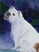 Smile Painting Framed Prints - Only a Bulldog .. Framed Print by Ally Benbrook