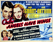 Films By Howard Hawks Framed Prints - Only Angels Have Wings, Cary Grant Framed Print by Everett