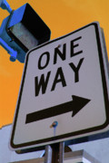 Crosswalk Posters - Only One Way Poster by Karol  Livote