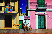 Brightly Paintings - Only Two Doors by John Lautermilch