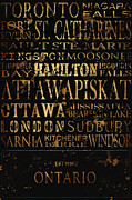 Kingston Prints - Ontario Typography Print by Tanya Harrison